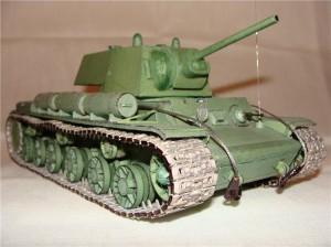 Танк КВ-1 с пушкой